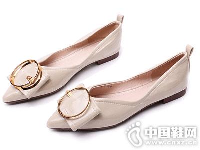 月芽儿女鞋2018秋季平底鞋