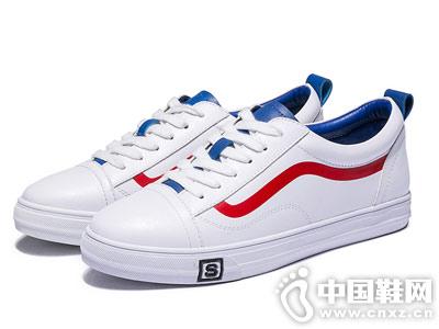 华耐女鞋2018秋季新款小白鞋
