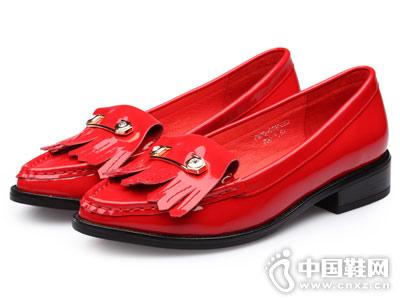 休闲真皮金猴女鞋