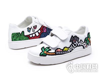jm快乐玛丽2018秋季新款小白鞋