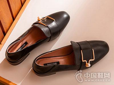 honeyGIRL田莘2018秋季新款小皮鞋
