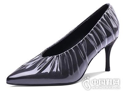 妙龄妙品花盆口高跟鞋