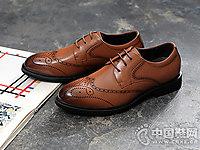 BANGBA邦霸布洛克男士商务皮鞋
