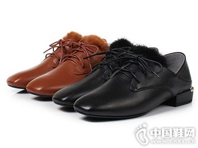 丹露一脚蹬小皮鞋女2018新款窝窝鞋
