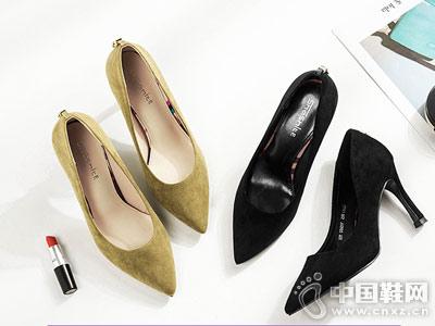 尖头超高跟鞋韩版百搭浅口鞋