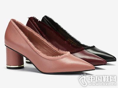 Aee爱意2018秋季新品优雅细高跟鞋