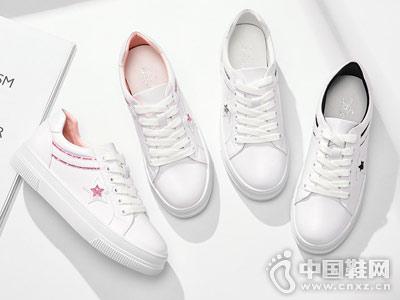 卓诗尼小白鞋2018秋季新款