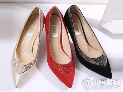 AS女鞋施华洛世奇元素婚鞋单鞋