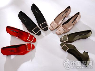 冬季新娘鞋印象风女红色婚鞋