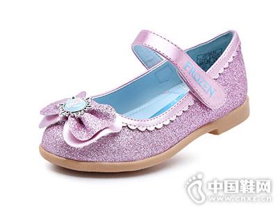 迪士尼女童单鞋皮鞋新款冰雪奇缘公主鞋