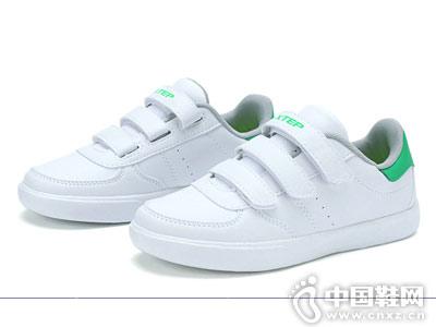 男童板鞋�和�小白鞋特步童�b新款