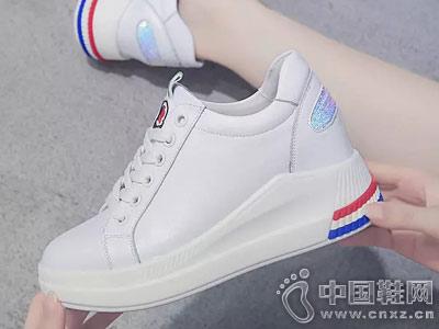 内增高小白鞋女秋季东帝名坊2018新款