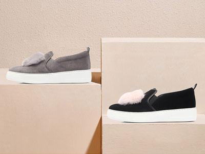 绒面休闲女Hush Puppies暇步士乐福鞋