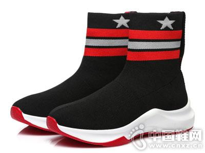 圣恩熙弹力靴子女2018新款短靴