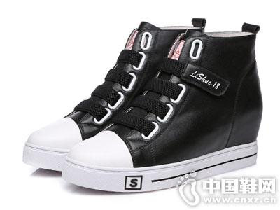高邦鞋子2018新款内增高圣恩熙休闲鞋