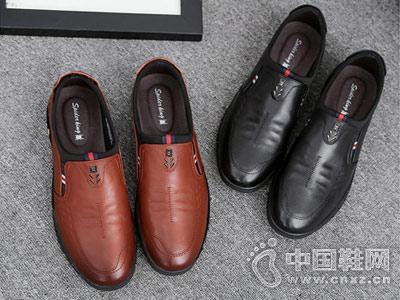 2018新款蜘蛛王男鞋商务休闲鞋