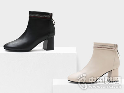 波尔谛奇2018秋冬新款女短靴