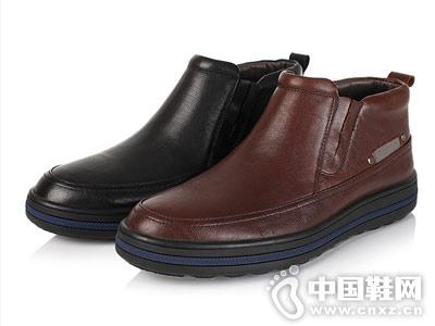 FATO伐拓冬季牛皮男靴