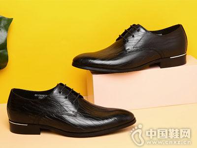 潮流系带青年休闲金利来男士皮鞋