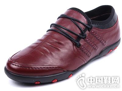 新款德尼尔森时尚经典真皮休闲男鞋