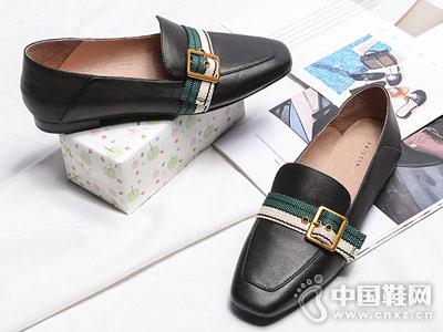 色非单鞋女2018新款平底鞋穆勒鞋