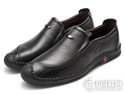 2018吉尔达男鞋秋季英伦套脚皮鞋