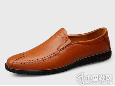 西域骆驼男鞋豆豆鞋一脚蹬