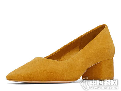 新款女鞋黄色ZARA高跟鞋