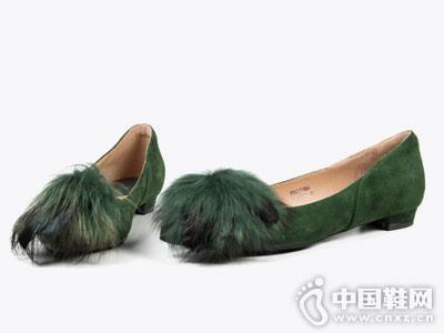 Fondberyl菲伯丽尔2018秋季新款单鞋毛毛鞋