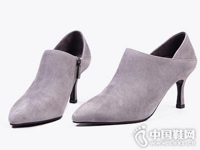 菲伯丽尔细高跟踝靴2018秋季新品