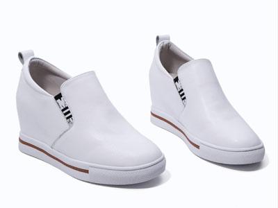 内增高小白鞋女平底米薇卡乐福鞋