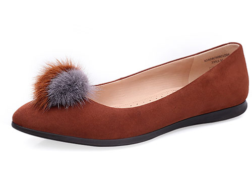 COZY STEPS秋季新款时尚尖头浅口单鞋