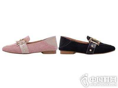 韩版休闲百搭皮带扣两穿英伦如熙乐福鞋