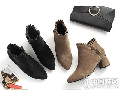 短靴女春秋2018新款粗跟及踝靴chic马丁靴