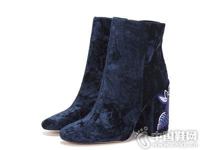 Ameda爱魅 冬季时尚绣花短靴