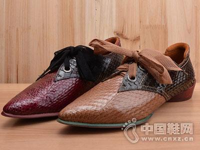 Eiaimi依百媚18秋款蛇纹低跟单鞋