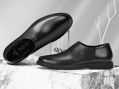 2018新款梦特娇皮鞋套脚男士皮鞋