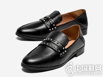 topgloria汤普葛罗铆钉圆头穆勒鞋