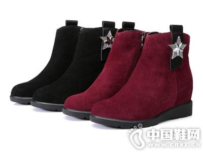 内增高女鞋磨砂皮圣恩熙切尔西短靴