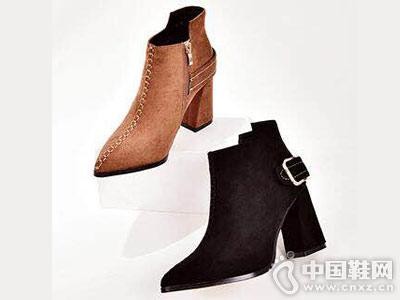 摩熙米昵时尚女鞋秋冬新款短靴