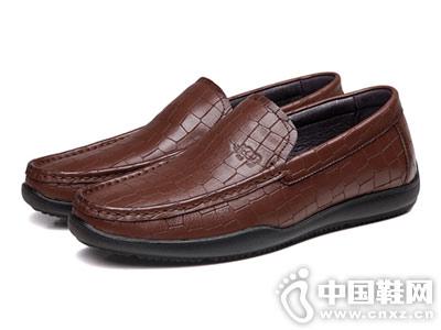犀牛新款懒人鞋软面皮豆豆鞋