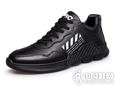 Zero零度运动鞋2018秋季韩版皮面跑步鞋