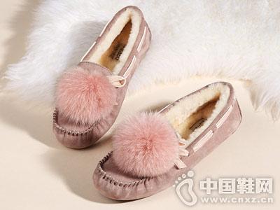 冬季新款加厚加绒保暖OZZEG豆豆鞋