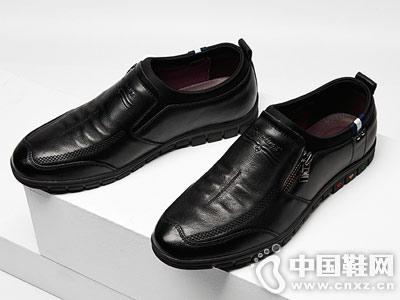 秋季英伦真皮男鞋休闲鞋蜘蛛王一脚蹬