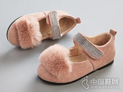比比我女童毛毛鞋2018新款冬季豆豆鞋