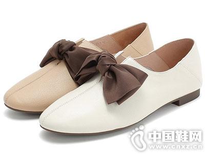 Teenmix天美意秋牛皮革女休闲鞋