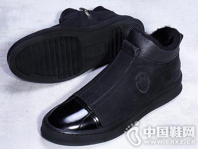 布莱希尔顿冬季男鞋真皮韩版休闲鞋