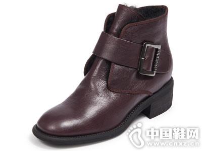 Hongkee红科女靴短筒低跟