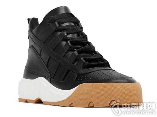 ZARA新款女鞋 皮革高帮运动鞋