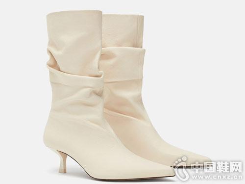 2018新款低跟皮靴 ZARA女鞋